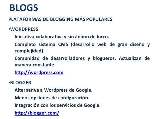 Tema 3. redes sociales, foros y blogs