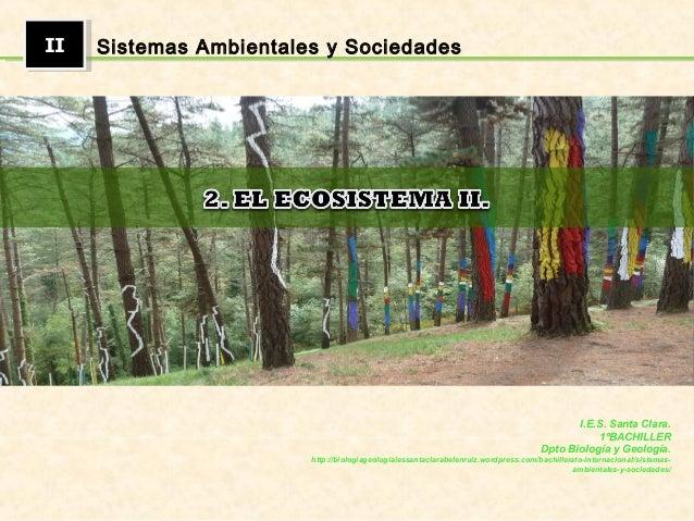 IIII Sistemas Ambientales y Sociedades I.E.S. Santa Clara. 1ºBACHILLER Dpto Biología y Geología. http://biologiageologiaie...