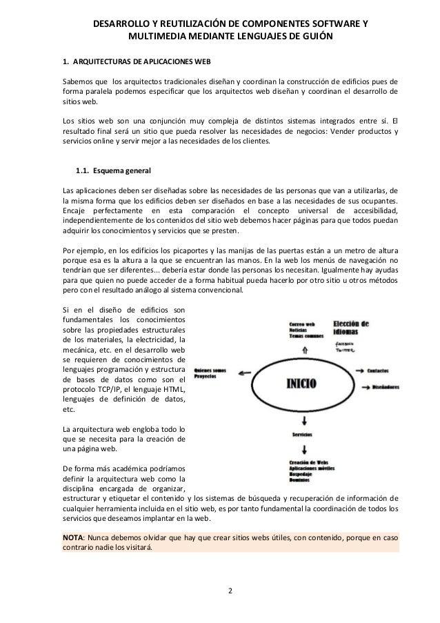 Desarrollo y reutilización de componentes software y multimedia media…