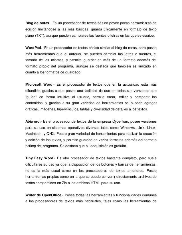 Procesadores de Texto universidad Uapa Unidad 3 Informatica
