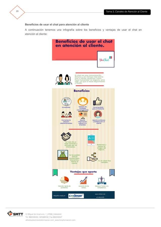 Tema 3. Canales de Atención al Cliente21 C/ Miguel de Unamuno, 1_47008_Valladolid Tel. 983249455 / 625569162_Fax 983243547...