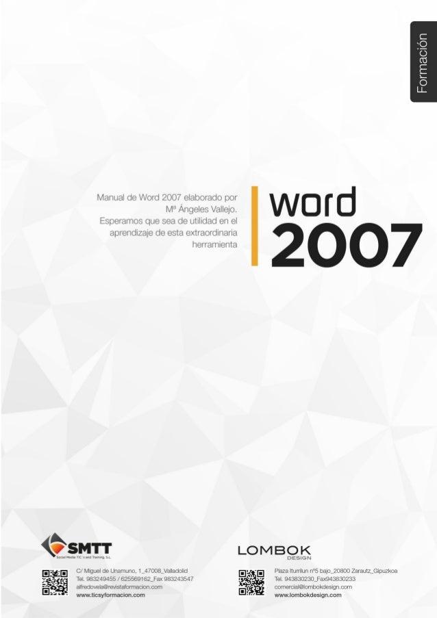 Tema 3. Formato en Word 2007 – 1ª parte C/ Miguel de Unamuno, 1_47008_Valladolid Tel. 983249455 / 625569162_Fax 983243547 ...