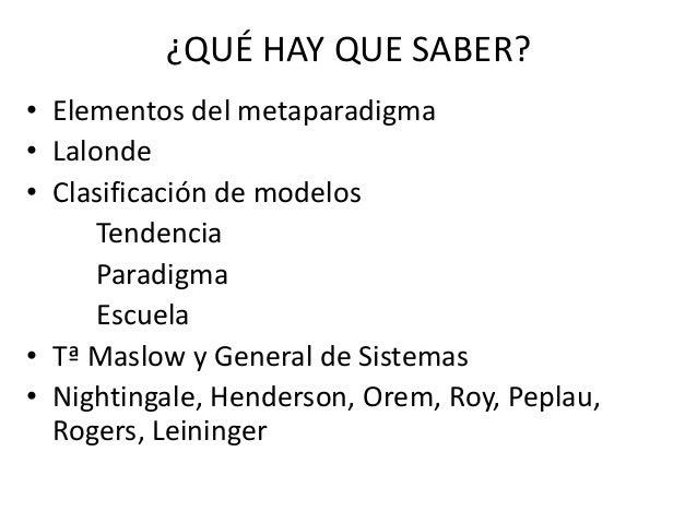 Teorías y Modelos de Enfermería  Slide 3