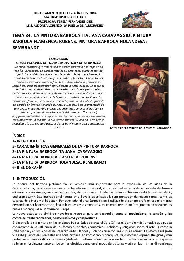 DEPARTAMENTO DE GEOGRAFÍA E HISTORIA                       MATERIA: HISTORIA DEL ARTE                    PROFESORA: TERESA...