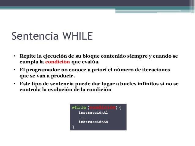 Sentencias De Repetición En Java