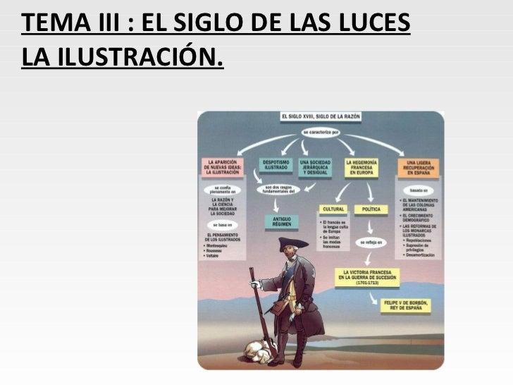 TEMA III : EL SIGLO DE LAS LUCES LA ILUSTRACIÓN.