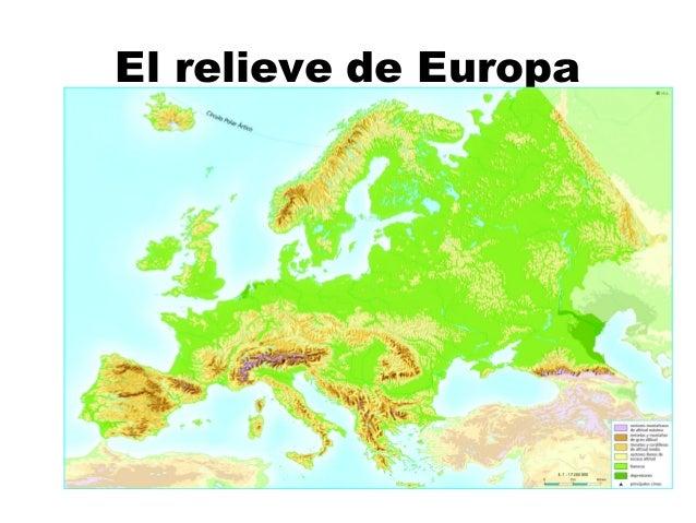 Resultado de imagen de el relieve de Europa