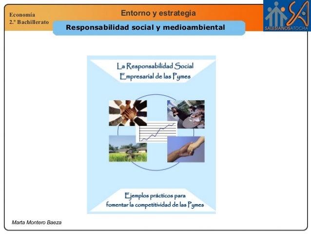 Economía 2.º Bachillerato Entorno y estrategia Marta Montero Baeza Responsabilidad social y medioambiental