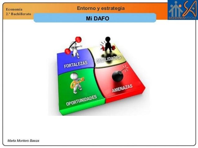 Economía 2.º Bachillerato Entorno y estrategia Marta Montero Baeza Mi DAFO