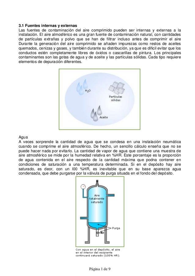 3.1 Fuentes internas y externasLas fuentes de contaminación del aire comprimido pueden ser internas y externas a lainstala...