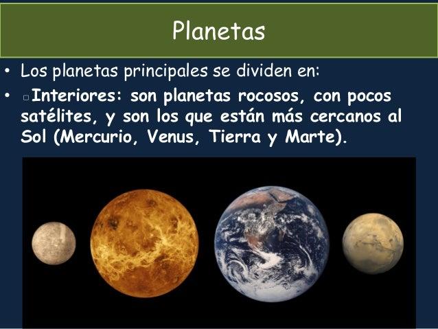 Tema 3 la tierra contexto estructura y composici n - Caracteristicas de los planetas interiores ...