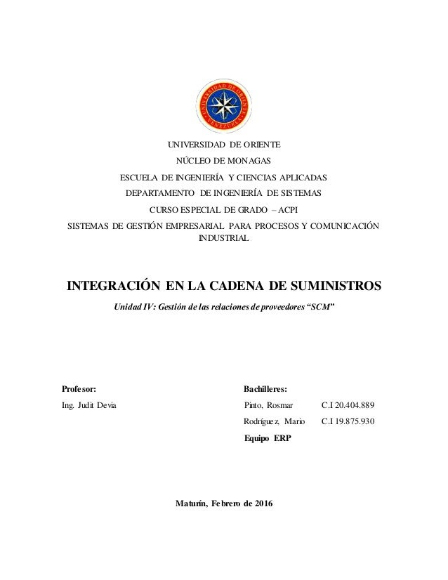 UNIVERSIDAD DE ORIENTE NÚCLEO DE MONAGAS ESCUELA DE INGENIERÍA Y CIENCIAS APLICADAS DEPARTAMENTO DE INGENIERÍA DE SISTEMAS...