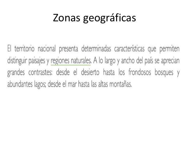 Zonas geográficas<br />