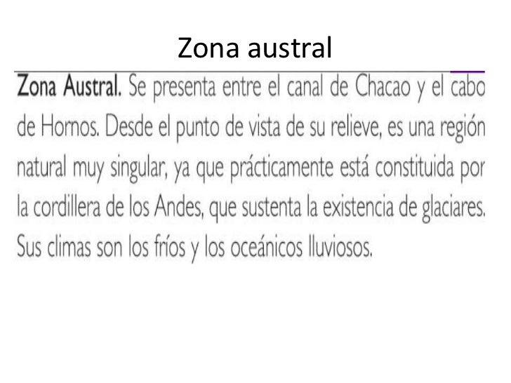 Zona austral<br />