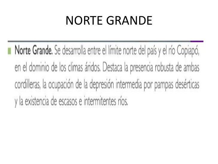 NORTE GRANDE<br />