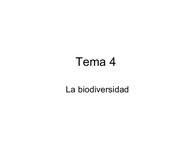 Tema 4 La biodiversidad