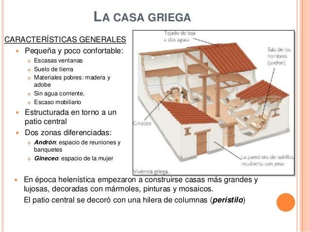 la casa y el mobiliario en la antigua grecia y la antigua roma