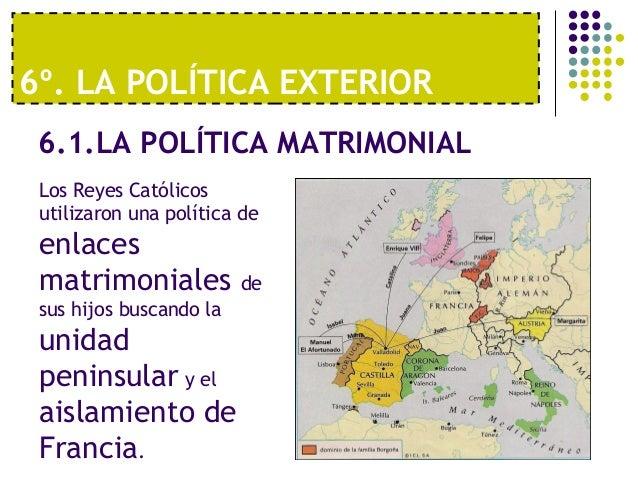 Tema 4 la unidad din stica los reyes catolicos for La politica exterior de espana