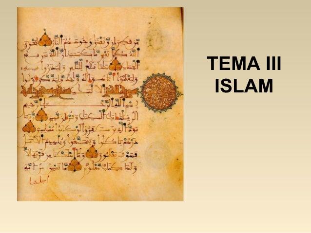 TEMA III ISLAM