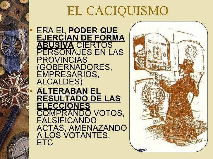 """Resultado de imagen de caciquismo españa siglo XIX"""""""