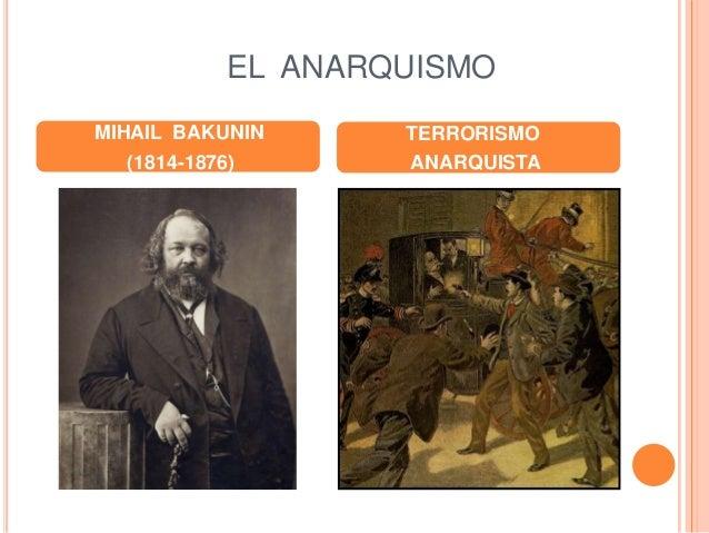 EL ANARQUISMO MIHAIL BAKUNIN (1814-1876) TERRORISMO ANARQUISTA