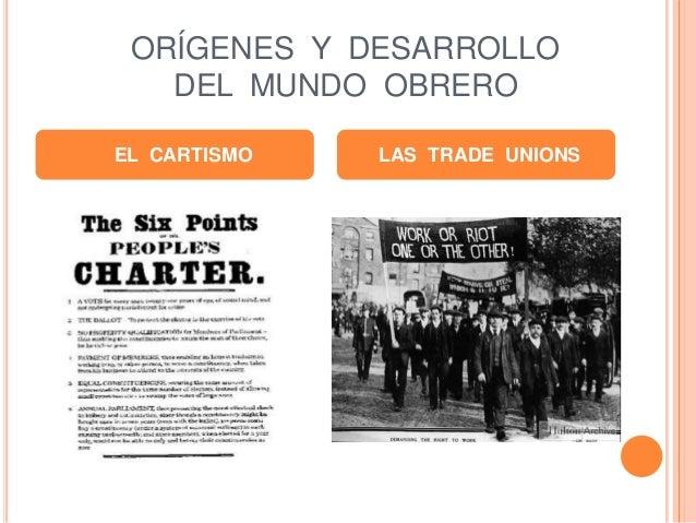 ORÍGENES Y DESARROLLO DEL MUNDO OBRERO EL CARTISMO LAS TRADE UNIONS