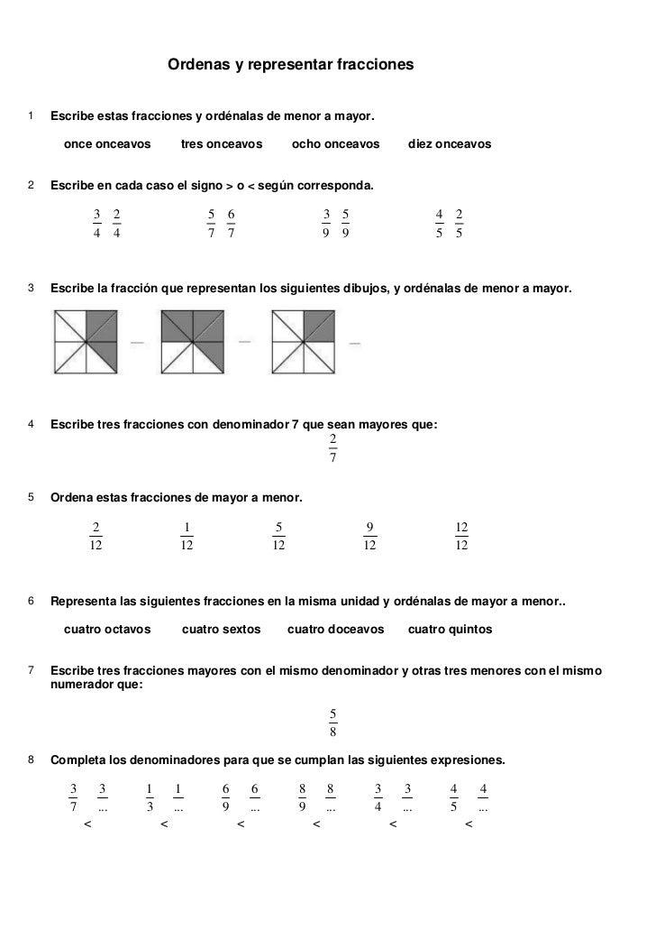 Tema 4 5 actividades fracciones solucionario for Cuarto para las 7