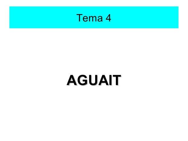 Tema 4AGUAIT