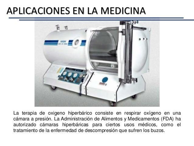 La terapia de oxigeno hiperbárico consiste en respirar oxígeno en una cámara a presión. La Administración de Alimentos y M...