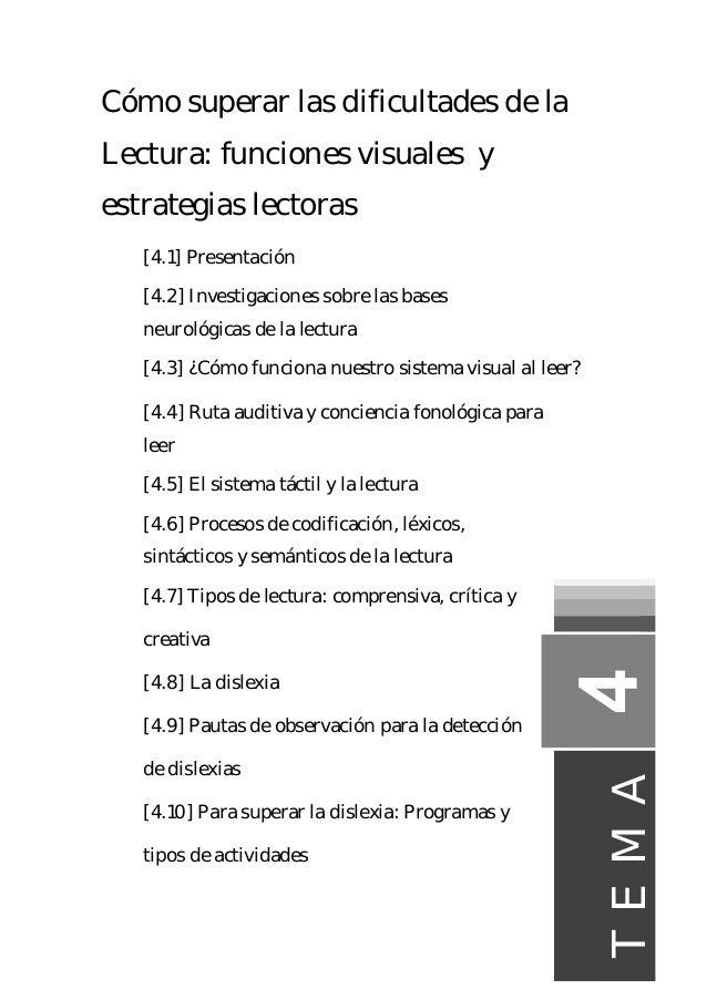 Cómo superar las dificultades de la Lectura: funciones visuales y estrategias lectoras [4.1] Presentación [4.2] Investigac...