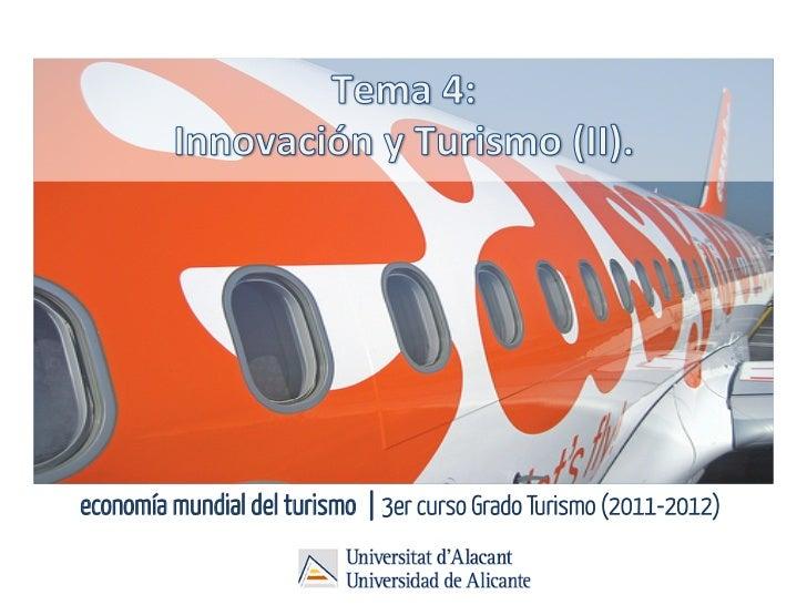 economía mundial del turismo | 3er curso Grado Turismo (2011-2012)