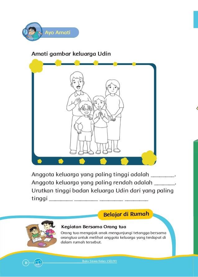 Contoh Soal Sd Kelas 1 Tema Keluargaku Buku Pegangan Siswa