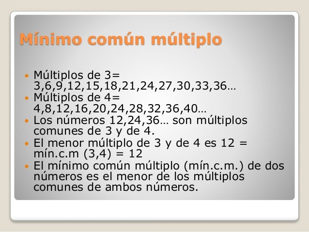 Tema 4 matematicas for Multiples de 6