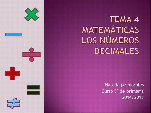 Natalia pe morales Curso 5º de primaria 2014/2015