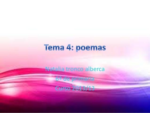 Natalia tronco alberca 6º de primaria Curso 2013/13