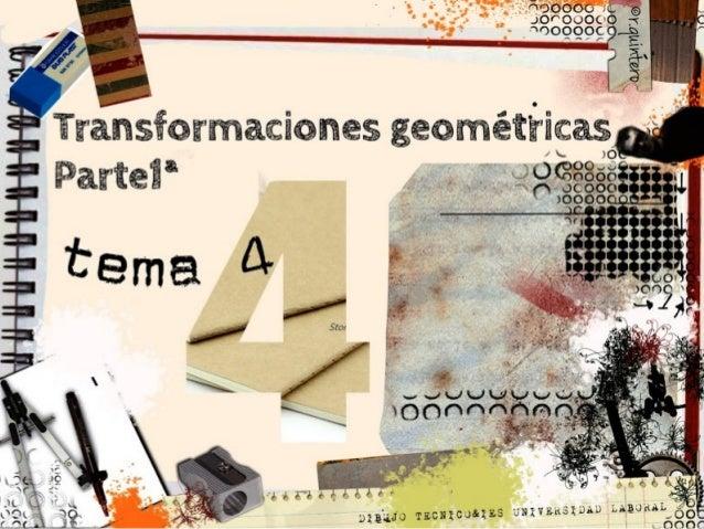 objetivos:  Contactar con la geometría proyectiva como ampliación de la conocida g. euclediana. Realizar ...