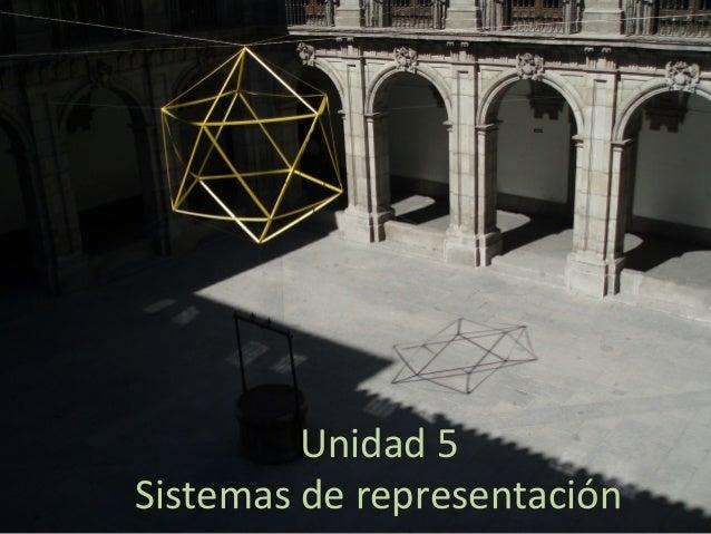 Unidad 5 Sistemas de representación