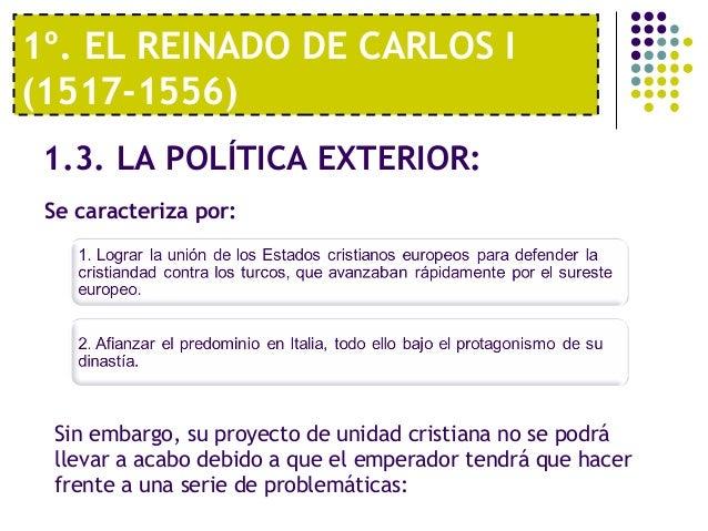 Tema 5 el siglo xvi la espa a de carlos i y felipe ii for La politica exterior de espana