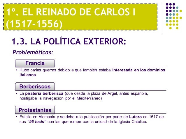 Tema 5 el siglo xvi la espa a de carlos i y felipe ii for Politica exterior de espana
