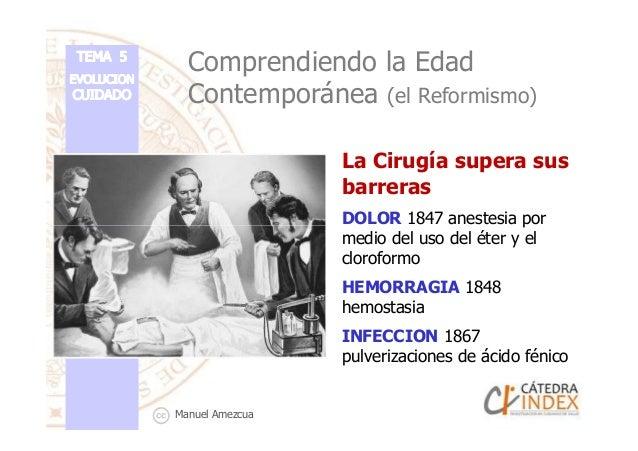 Comprendiendo la Edad Contemporánea (el Reformismo) La Cirugía supera sus barreras DOLOR 1847 anestesia porDOLOR 1847 anes...