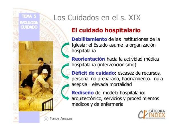 Los Cuidados en el s. XIX El cuidado hospitalario Debilitamiento de las instituciones de la Iglesia: el Estado asume la or...