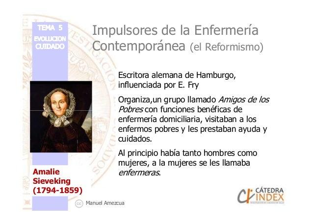 Impulsores de la Enfermería Contemporánea (el Reformismo) Escritora alemana de Hamburgo, influenciada por E. Fry Organiza,...