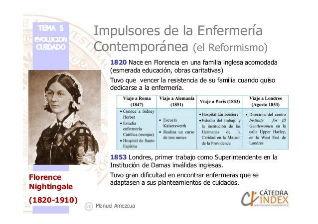 Impulsores de la Enfermería Contemporánea (el Reformismo) 1820 Nace en Florencia en una familia inglesa acomodada (esmerad...