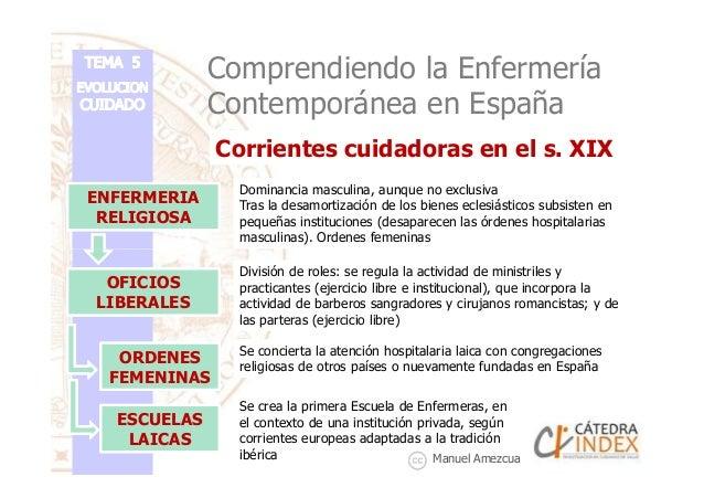Corrientes cuidadoras en el s. XIX Comprendiendo la Enfermería Contemporánea en España ENFERMERIA RELIGIOSA Dominancia mas...