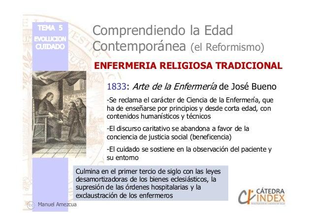 Comprendiendo la Edad Contemporánea (el Reformismo) 1833: Arte de la Enfermería de José Bueno -Se reclama el carácter de C...
