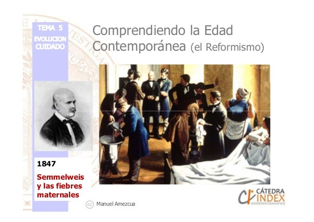 Comprendiendo la Edad Contemporánea (el Reformismo) 1847 Semmelweis y las fiebres maternales Manuel Amezcua