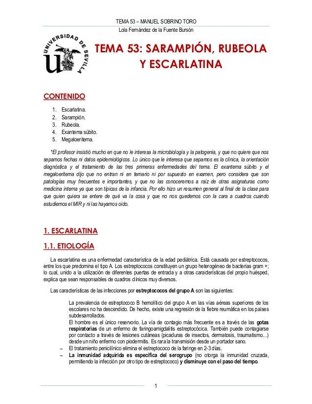 Sarampion Rubeola Y Escarlatina Pediatria Lolaffb