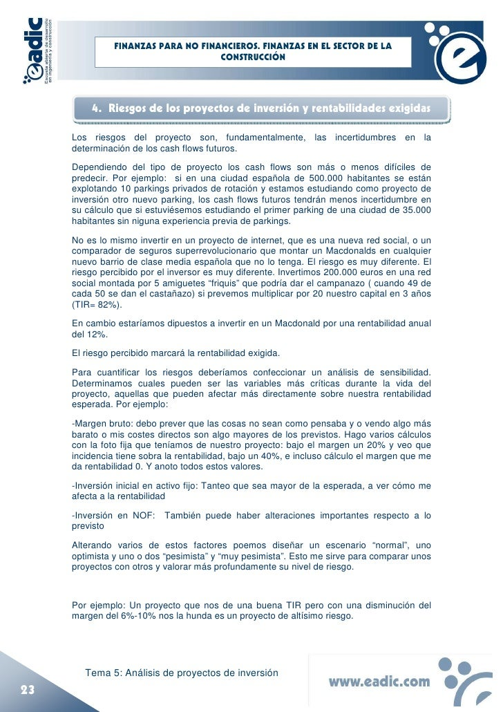 Monograf a del curso finanzas para ingenieros 5 an lisis for Proyecto de construccion de aulas de clases