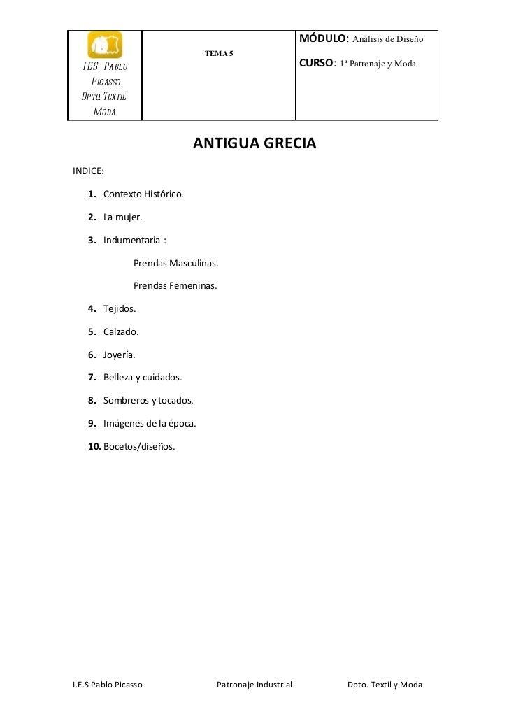 MÓDULO: Análisis de Diseño                                 TEMA 5  I E S Pablo                                            ...