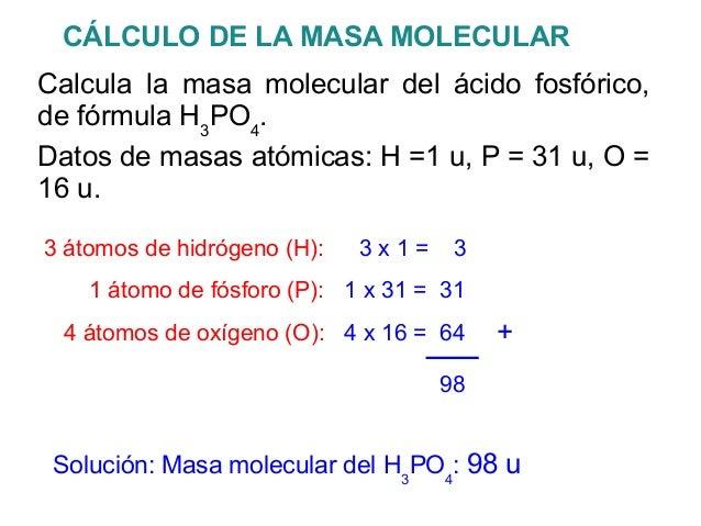 Elementos y compuestos la tabla peridica 17 clculo de la masa molecularcalcula la masa molecular urtaz Choice Image